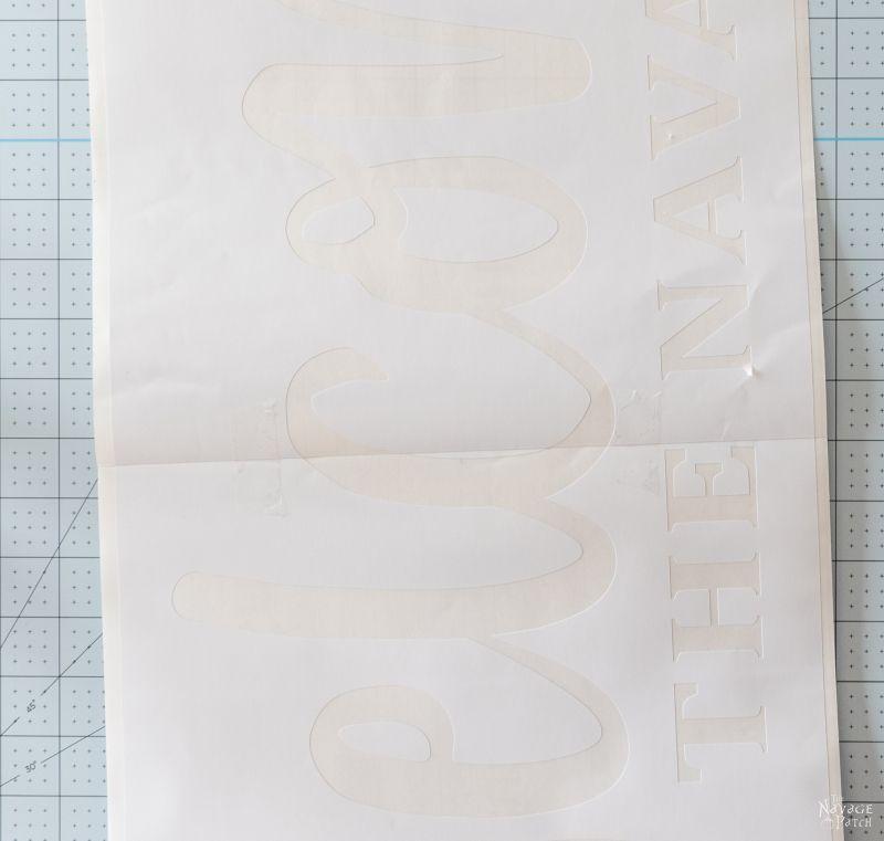 using cricut to make a stencil