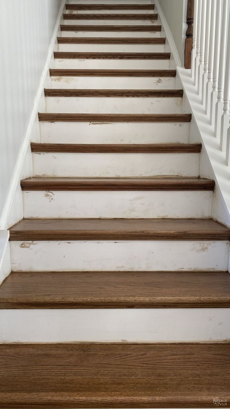 dirty wood staircase