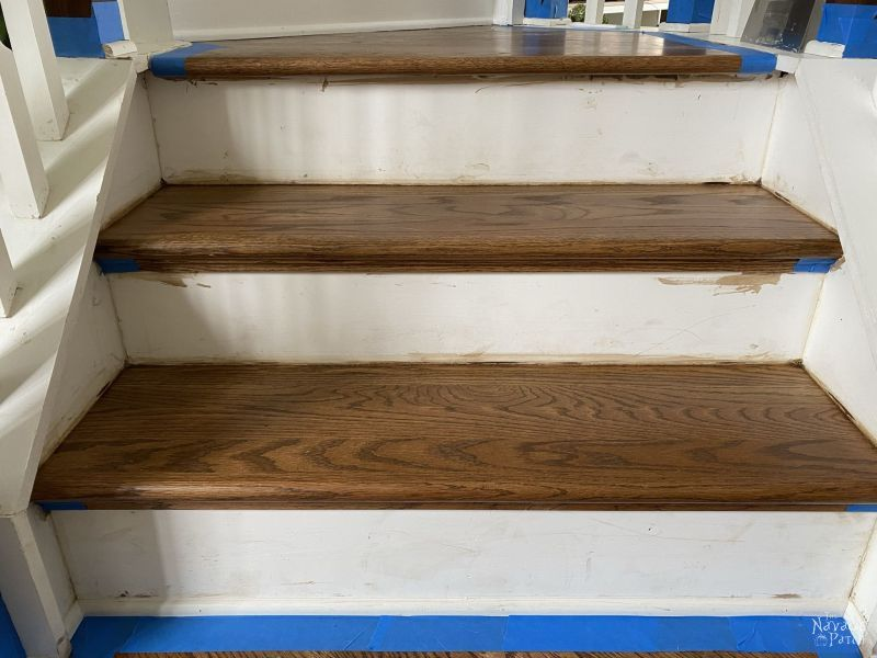 stair landing to be painted