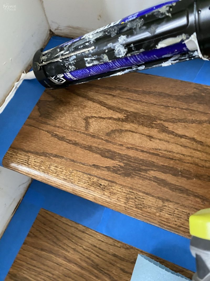 caulk for painting stair risers