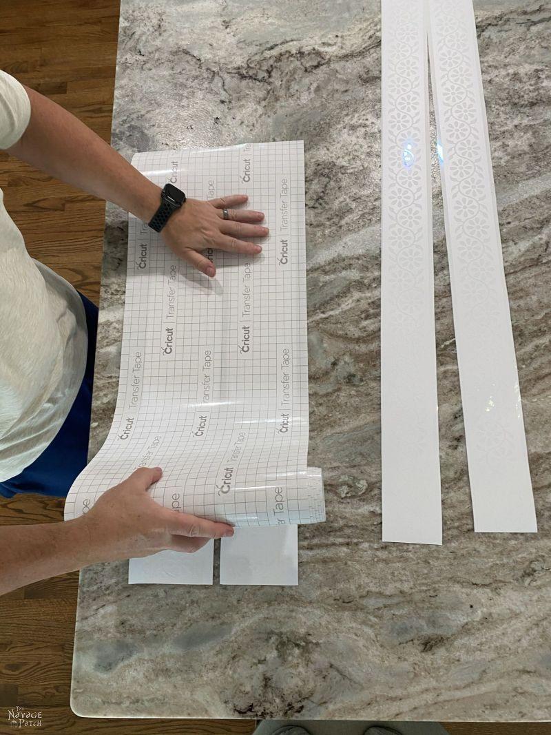 transferring a stencil onto transfer tape