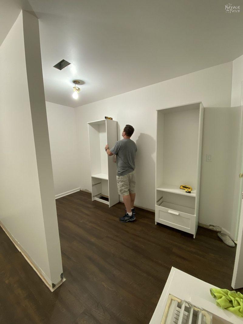placing brimnes units in a master closet
