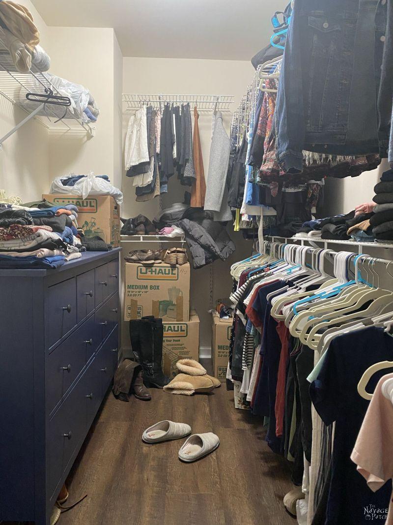 master closet before makeover
