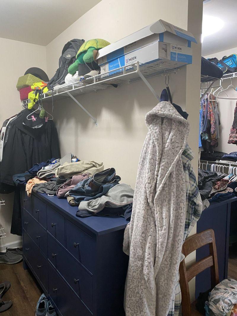 closet before makeover