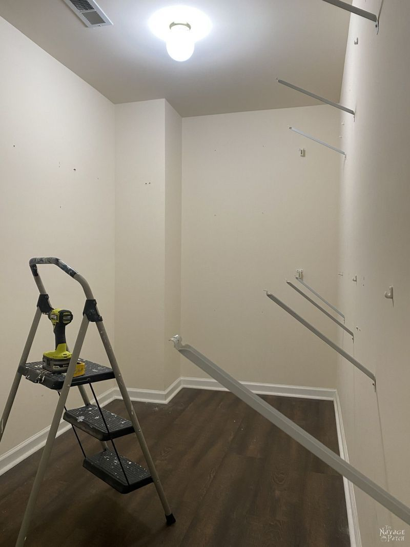 removing wire shelving