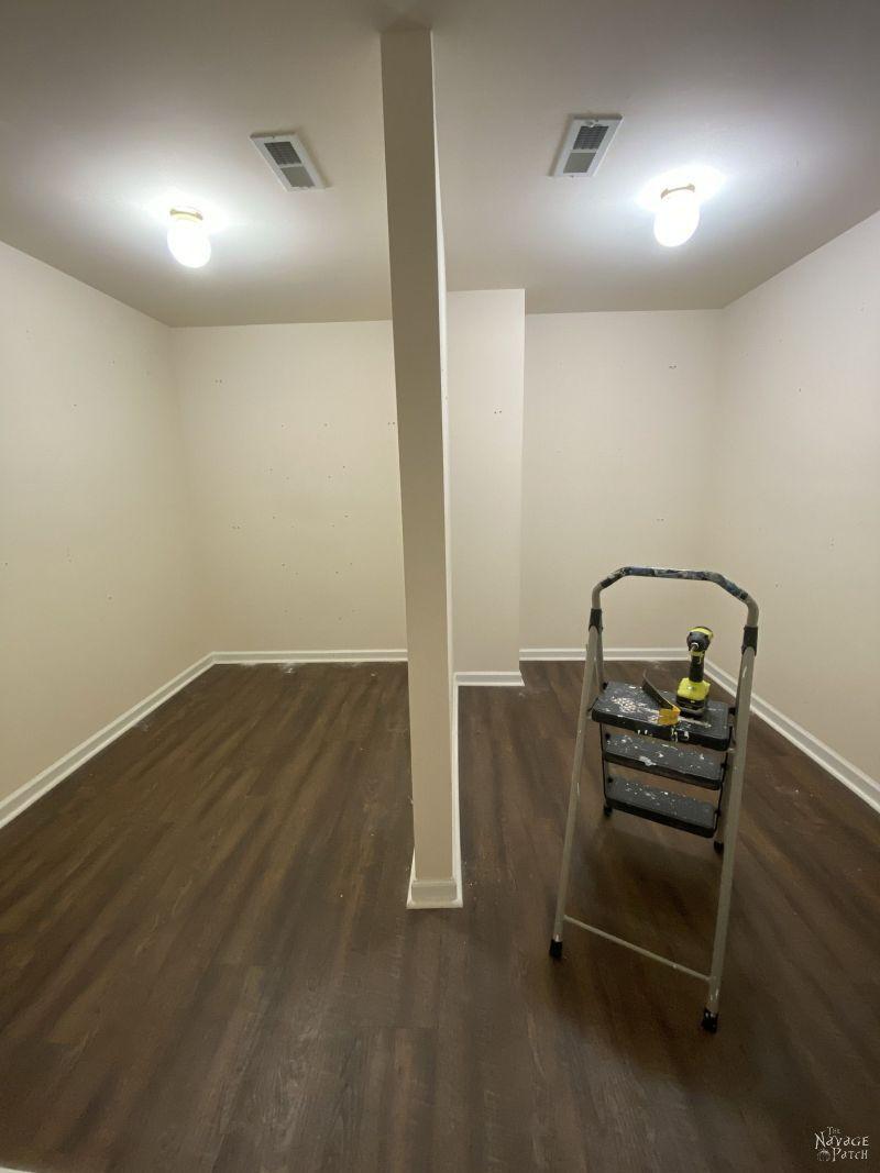 empty master closet
