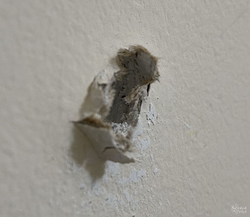 drywall hole