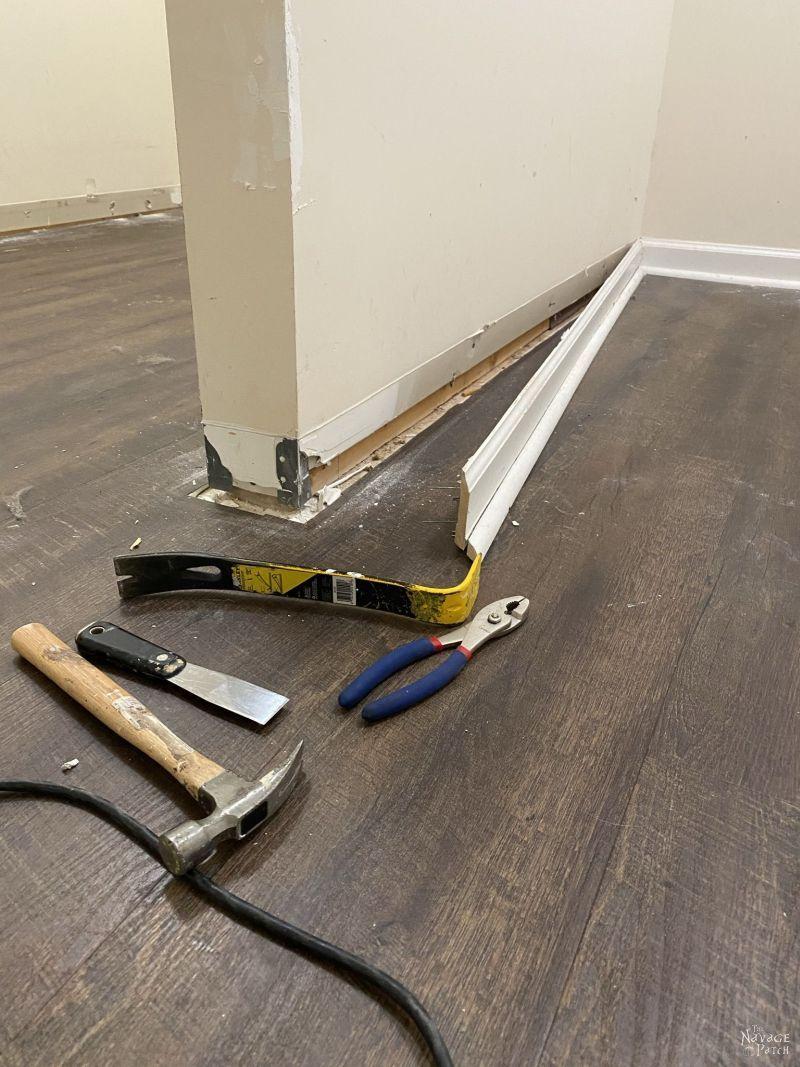 removing baseboard