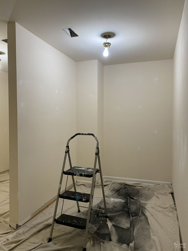 closet prepped for painting