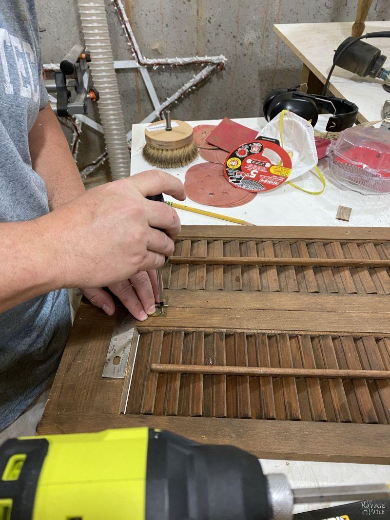 installing hinges on a plantation shutter