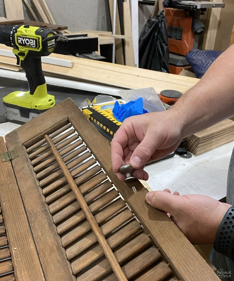 installing a new knob on a plantation shutter