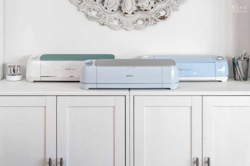 Cricut Maker 3 with older machines in background