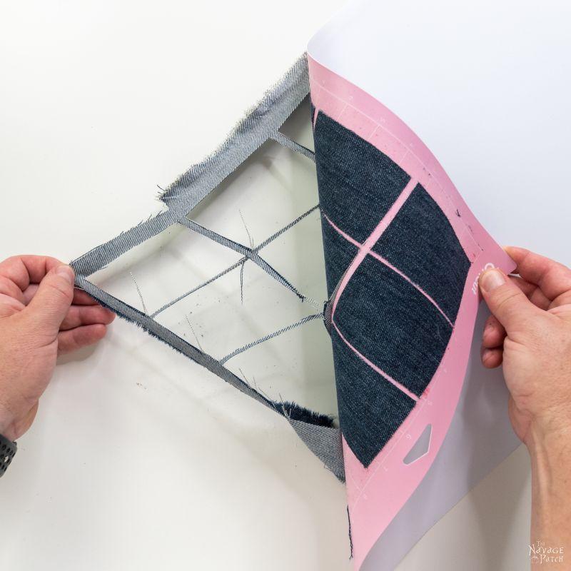 fabric on cricut fabric mat