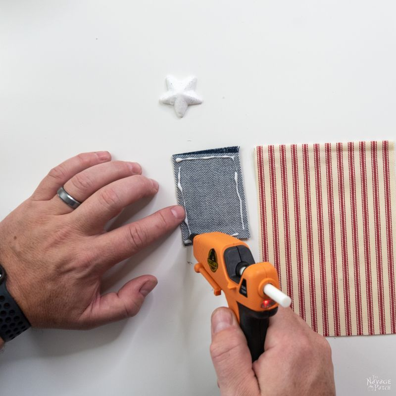 making a flag garland