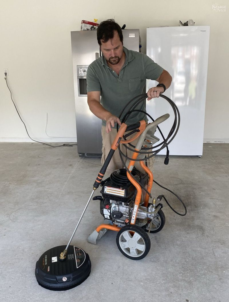 getting a power washer ready for action