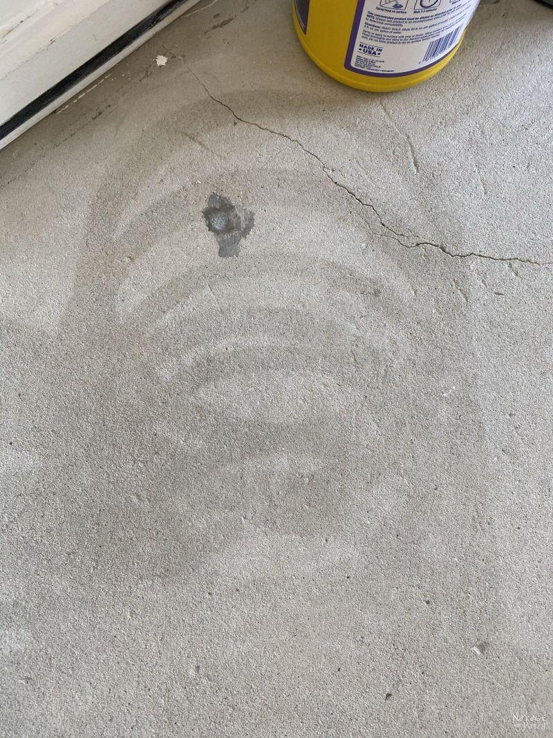 power washer streaks on concrete
