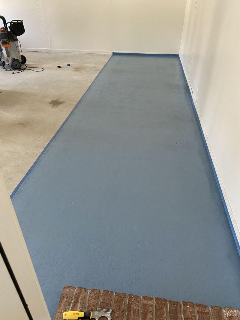 painting a garage floor
