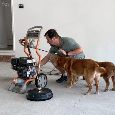 garage floor painting - TheNavagePatch.com