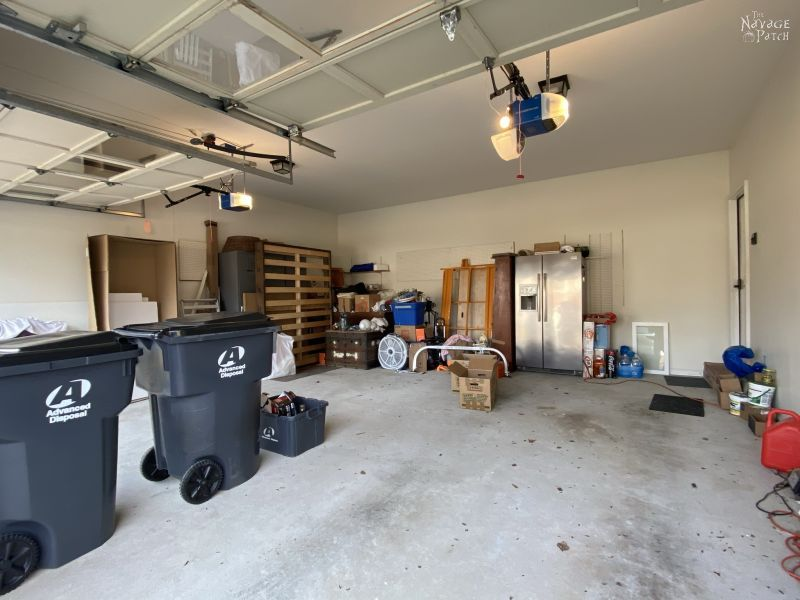 garage makeover plan before pic