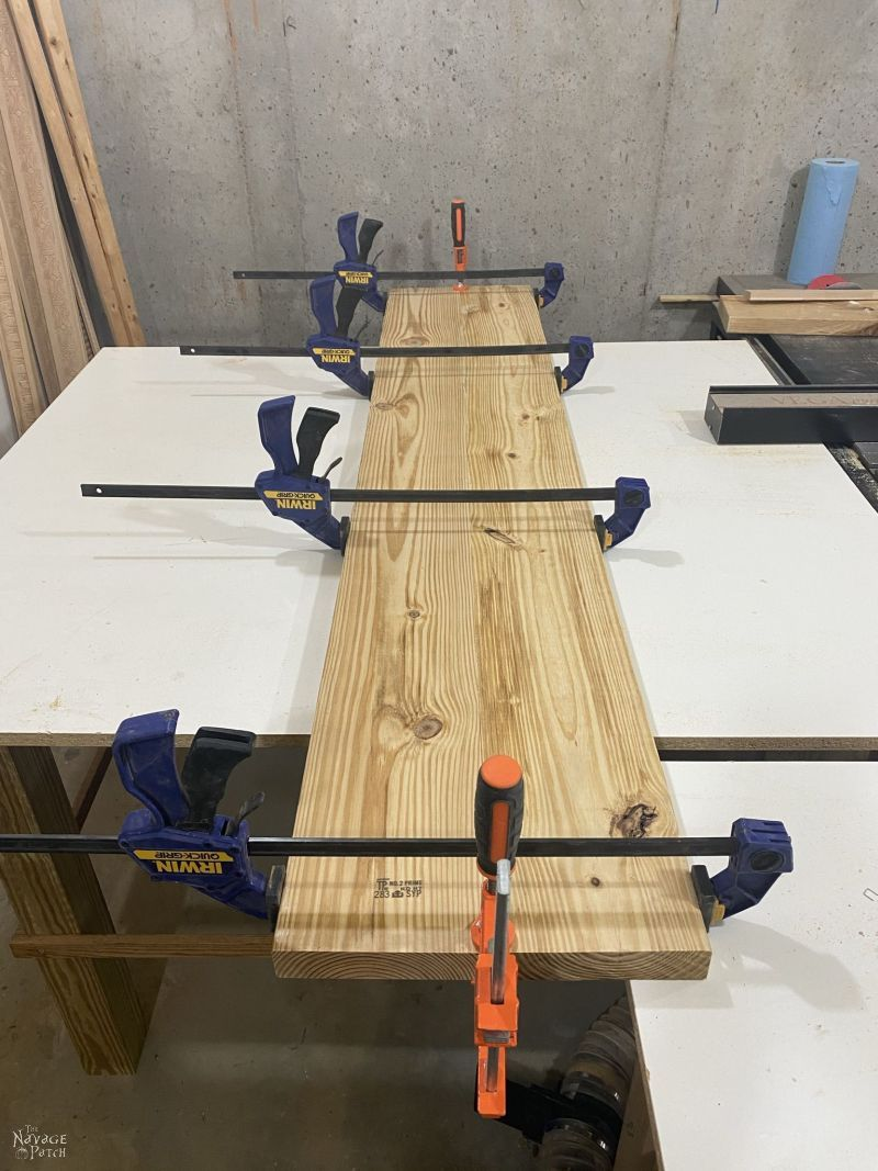 gluing boards together