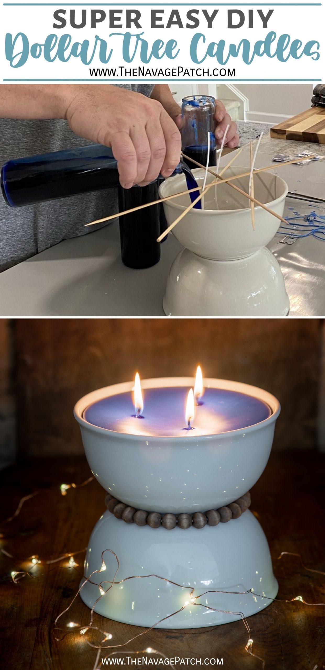 DIY Dollar Tree Candles - TheNavagePatch.com