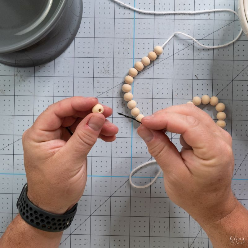 making a string of beads