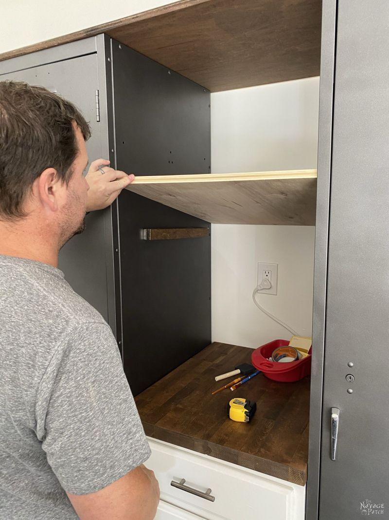 making magnetic shelves for metal lockers