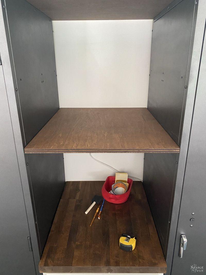 magnetic shelf for metal locker