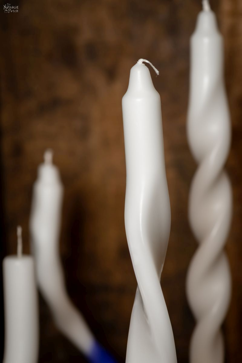 DIY Twisted Candles - TheNavagePatch.com