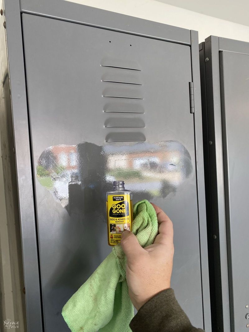cleaning an old locker