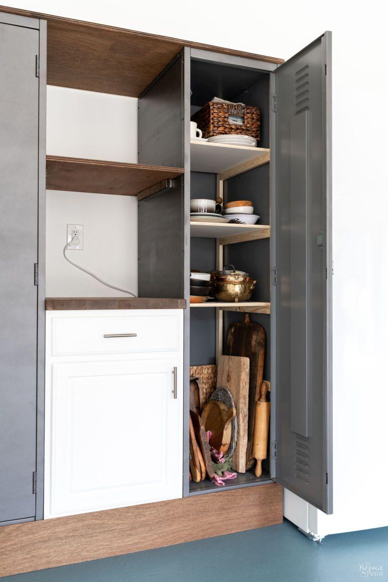 DIY Shelves for Metal Lockers - TheNavagePatch.com