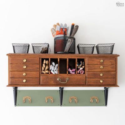 Repurposed Desk Hutch - TheNavagePatch.com