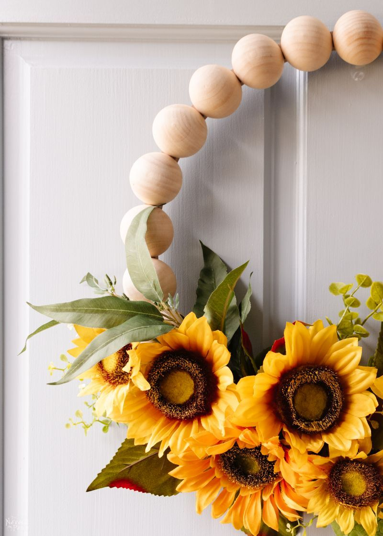 DIY Fall Bead Wreath - TheNavagePatch.com