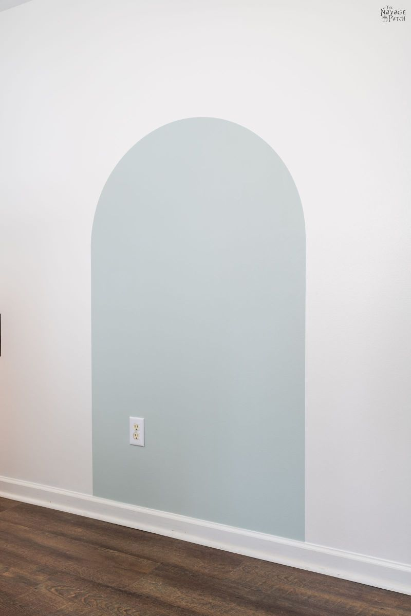 painted arch accent wall