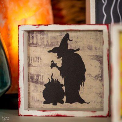 DIY Dollar Tree Square Halloween Signs - TheNavagePatch.com