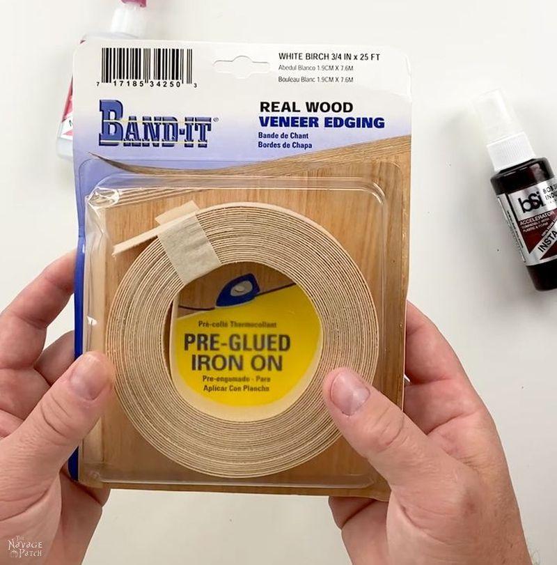 package of wood veneer edge banding
