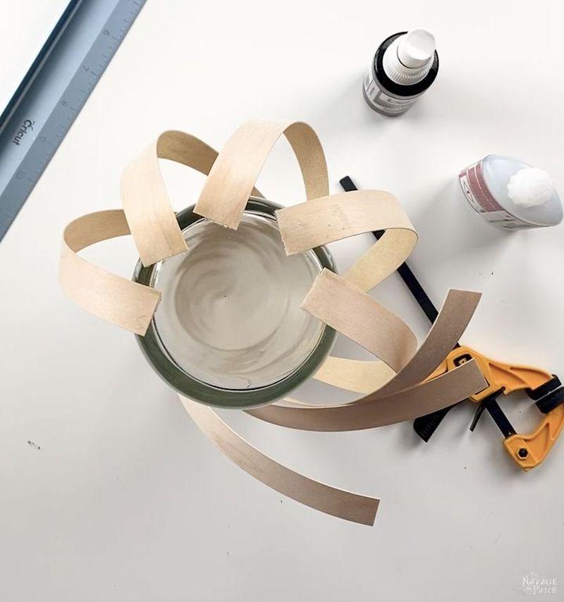 making a wood veneer lantern