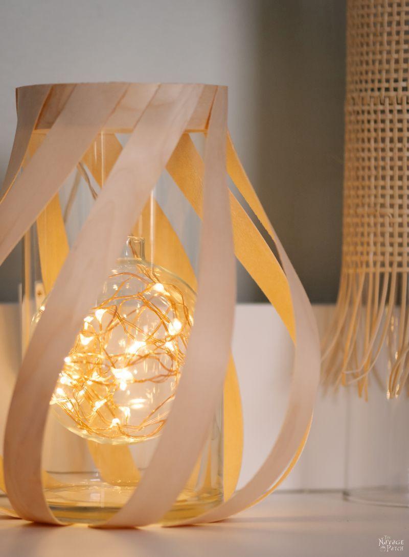 DIY Wood Veneer Lantern - TheNavagePatch.com