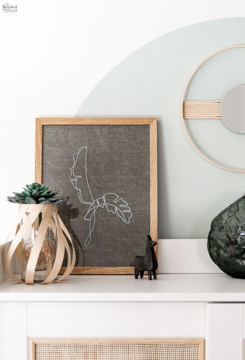 Easy DIY Line Art - TheNavagePatch.com