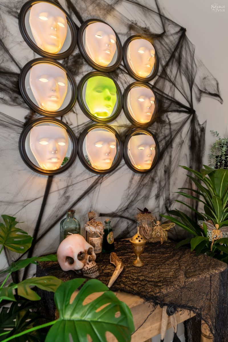 Gallery of the Faceless   Easy Halloween Wall Decor - TheNavagePatch.com