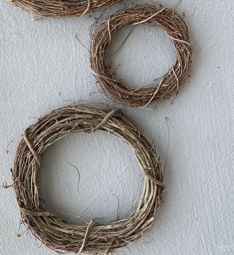 12 and 18 inch grapevine wreaths