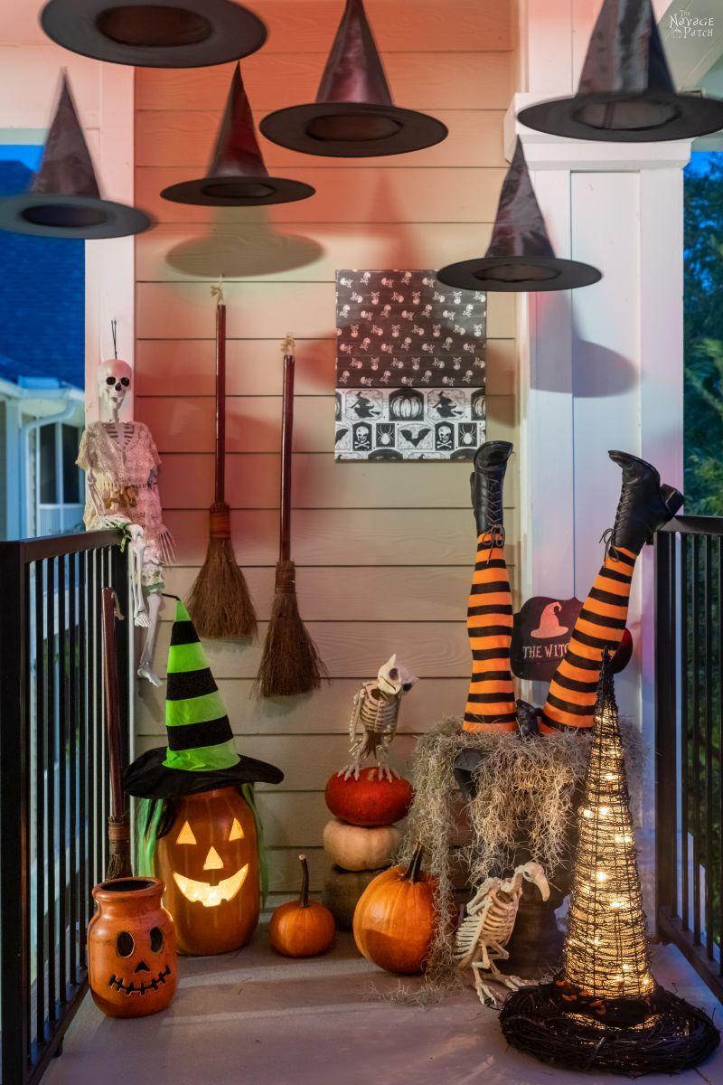 DIY Jumbo Witch Hat (Grandin Road Inspired) - TheNavagePatch.com